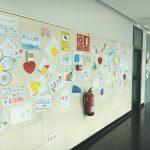 El Hospital Valle de los Pedroches de Pozoblanco expone las obras creadas por estudiantes de primaria en apoyo a pacientes y profesionales en su lucha contra la Covid-19
